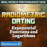 BUNDLE - Performance Tasks – Exponential Functions – Radiometric Dating