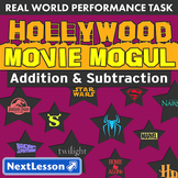 BUNDLE - Performance Tasks - Addition & Subtraction - Hollywood Movie Mogul