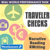 Bundle G8 Narrative Reading & Writing - 'Traveler Checks' Performance Task