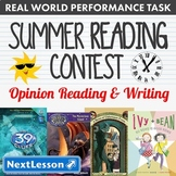 Bundle G3 Opinion Reading & Writing - 'Summer Reading Contest' Performance Task