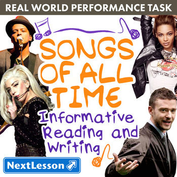 Bundle G4 Informative Reading & Writing - 'Songs of All Time' Performance Task