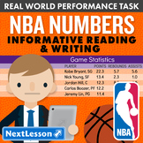Bundle G8 Informative Reading & Writing - 'NBA Numbers' Performance Task