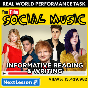 Bundle G7 Informative Reading & Writing - 'Social Music' Performance Task