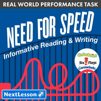 Bundle G7 Informative Reading & Writing - 'Need for Speed' Performance Task