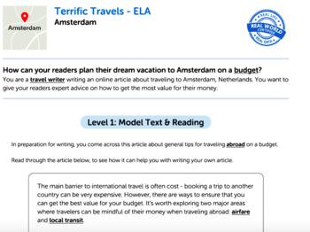 Bundle G7 Informative Reading & Writing - 'Terrific Travels' Performance Task