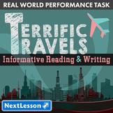 G7 Informative Reading & Writing - 'Terrific Travels' Performance Task