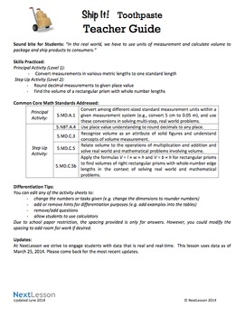 BUNDLE – Performance Tasks – Measurement & Volume – Ship It