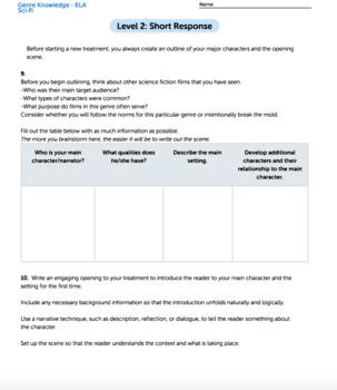 Bundle G8 Narrative Reading & Writing - Genre Knowledge Performance Task