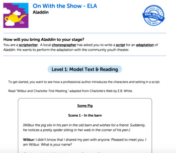 Bundle G4 Narrative-Script Reading & Writing-'On With the Show' Performance Task