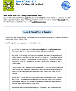 Bundle G5 Opinion Reading & Writing - 'Sales & Tales' Performance Task