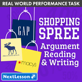 Bundle G6 Argument Reading & Writing - 'Shopping Spree' Performance Task