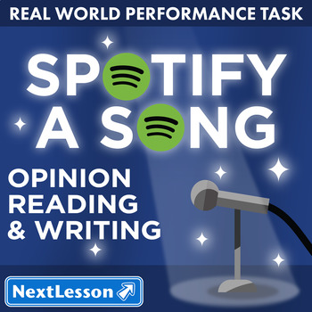 Bundle G5 Opinion Reading & Writing - 'Spotify a Song' Performance Task