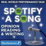 G5 Opinion Reading & Writing - 'Spotify a Song' Performance Task