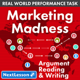 Bundle G8 Argument Reading & Writing - Marketing Madness Performance Task