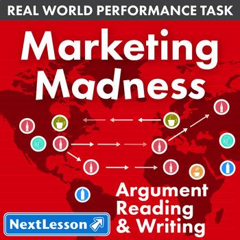 Bundle G8 Argument Reading & Writing - Marketing Madness Performance Task