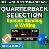G4 Opinion Reading & Writing - 'Quarterback Selection' Performance Task