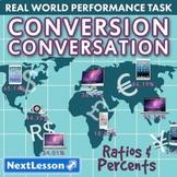 G6 Ratios & Percents - 'Conversion Conversations' Performance Task