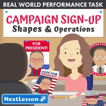 BUNDLE - Performance Tasks - Shapes and Operations - Campaign Sign-Up