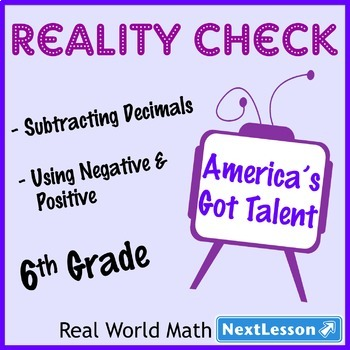 BUNDLE – Performance Tasks – Subtract Decimals & Absolute Value – Reality Check