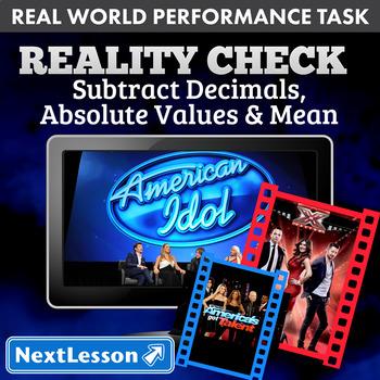 BUNDLE – Performance Tasks – Subtract Decimals & Absolute