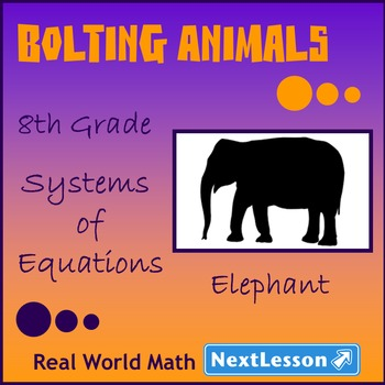 BUNDLE – Performance Tasks – Systems of Equations – Boltin