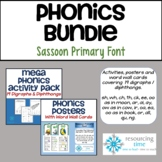 BUNDLE: Phonics Activity Pack/Posters/Word Wall Cards - Sa