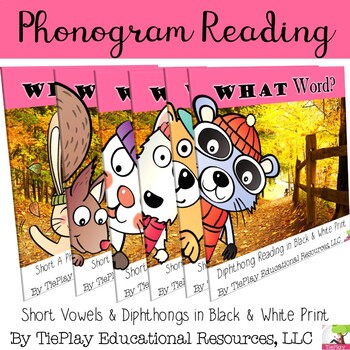 BUNDLE Phonograms Diphthongs Phonics Autumn Theme Black White Print No Prep