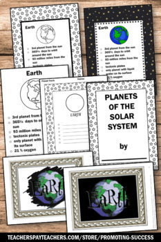 Planets and Solar System Unit, Earth Science Special Education Activities BUNDLE