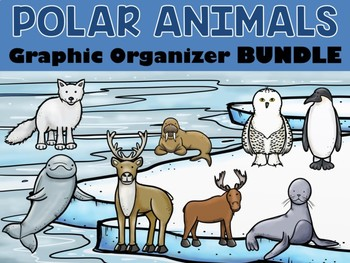 BUNDLE : Polar and Arctic Animals Graphic Organizers - 11 in All