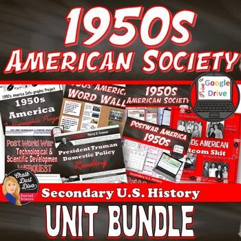 1950's Post World War II American Society BUNDLE– 16 Day U