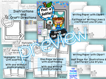 Writing Activities ~ Post a Selfie! Thru the Year BUNDLE-Set 1