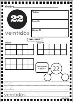 BUNDLE Práctica de Sentido Numérico 11-30 ~ Number Sense Practice11-30!
