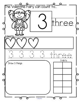 Number Practice Printables - Recognition Tracing Counting 1-20 BUNDLE