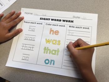 Pre-Primer and Primer Sight Word Work BUNDLE