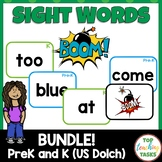 Pre-K and Kindergarten Sight Word BOOM Card Games Bundle Dolch