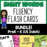 Pre-K and Kindergarten Flash Cards Bundle Dolch