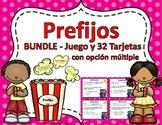 Prefijos Task Cards-&-Prefijos Popcorn Game-GRAMÁTICA