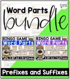 2.RF.3d - BUNDLE! Prefixes and Suffixes BINGO Games
