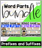 2.RF.3d - BUNDLE! Prefixes and Suffixes BINGO Games