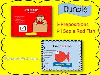 BUNDLE!!!  Prepositions; I See a Red Fish (colors); Autism
