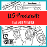 Presidents Research Notebook
