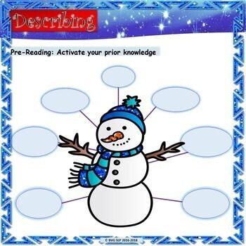 BUNDLE Primary Book Companion Unit ~ The Biggest Snowman & MORE - Teletherapy