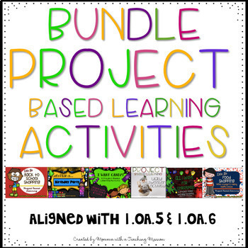 BUNDLE Project Based Learning Activity 1.OA.5 1.OA.6 1.MD.4 1.G.2