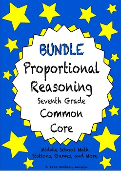 BUNDLE Proportional Reasoning Math Stations for Common Cor