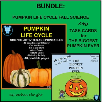 BUNDLE: Pumpkin Life Cycle Fall Science AND The Biggest Pu