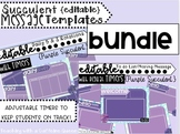BUNDLE: Purple Succulent: EDITABLE Daily 5 & To Do Lists Templates & Timers