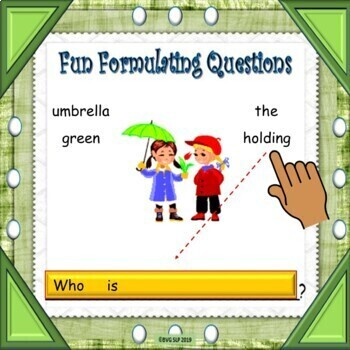 BUNDLE Questions Asking and Answering Questions with BOOM CARDS - Teletherapy