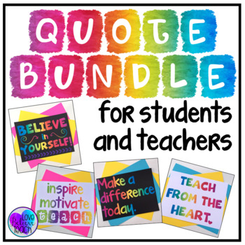 Inspirational Posters for Students and Teachers BUNDLE
