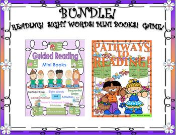 BUNDLE! READING COMPREHENSION PASSAGES AND QUESTIONS!  MINI BOOKS!  K - 1