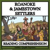 BUNDLE READING COMPREHENSION- ROANOKE AND JAMESTOWN SETTLERS